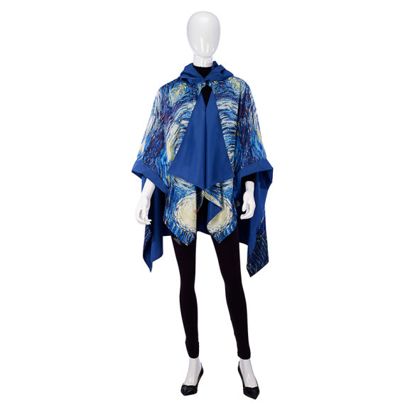 Van Gogh Starry Night RainCape