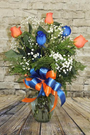 1/2 Dozen Roses Florida Gator Colors