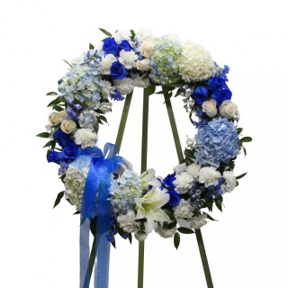 Blue Without You Wreath