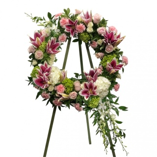 Divine Pink & White Wreath