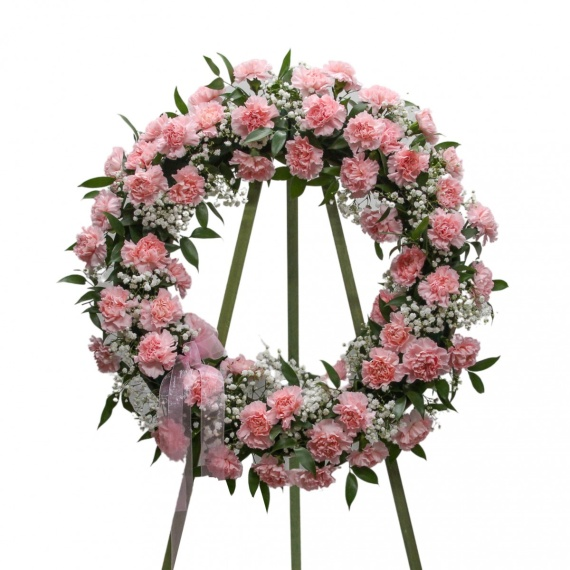 Classic Pink Carnation Wreath