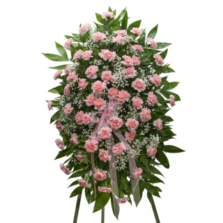 Classic Pink Carnation Standing Spray