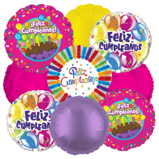 Feliz Cumpleanos Balloon Bouquet
