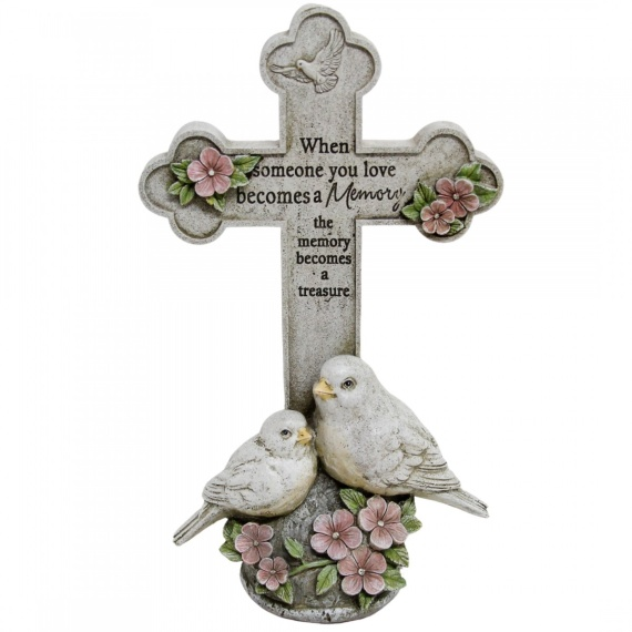 Peace Doves Memory Cross