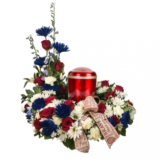 To Protect and Serve Urn Arrangement