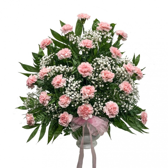 Classic Pink Carnation Basket