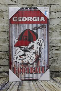 Georgia Bulldog Collegiate Wall Hanger