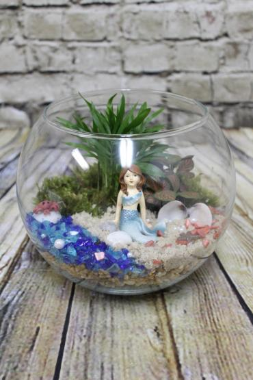 Beach Mermaid Terrarium