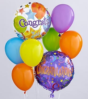 Congratulations Mylar Bouquet