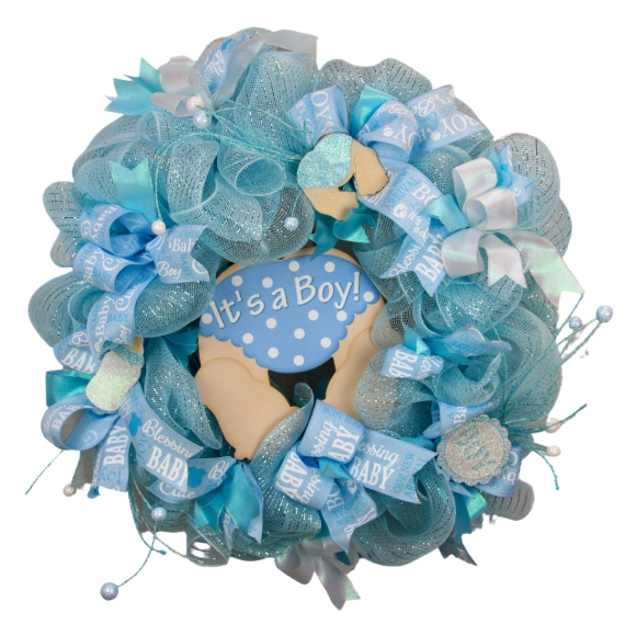 Baby Boy Door Wreath