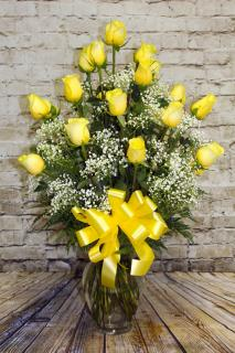 2 Dozen Roses Yellow