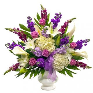 Purple and White Basket