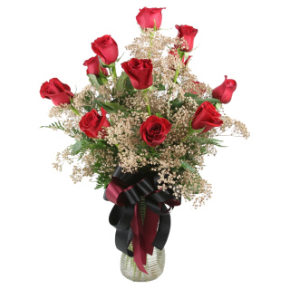 1 Dozen Roses Seminole Colors