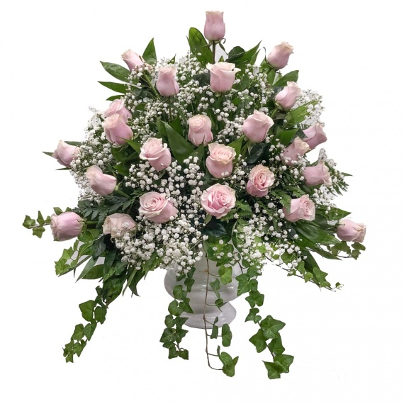 Elegant Pink Rose Basket