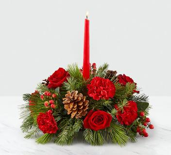 "I\'ll Be Home for Christmasâ""¢ Candle Centerpiece"