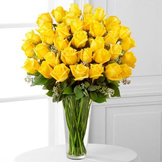 Yellow Rose Bouquet - 36 Stems
