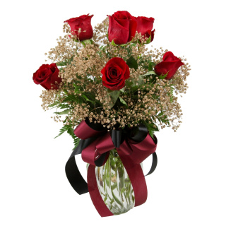 1/2 Dozen Roses Seminole Colors