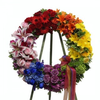 Eternal Rainbow Wreath