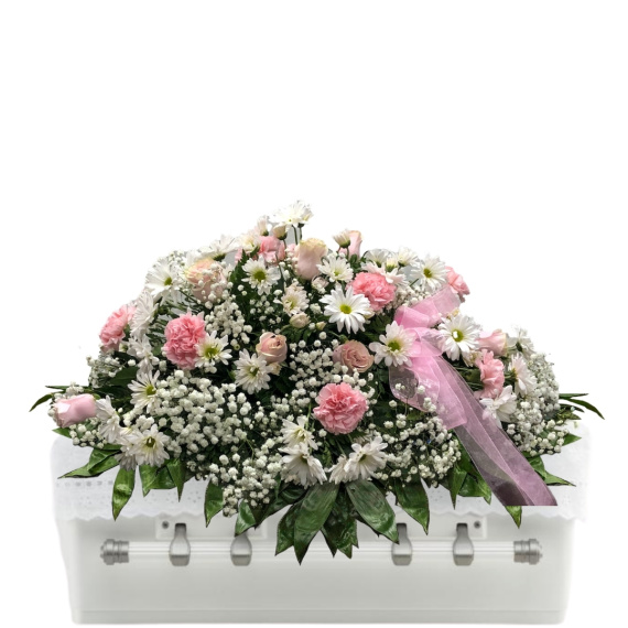 Delicate Shades of Pink Casket Spray