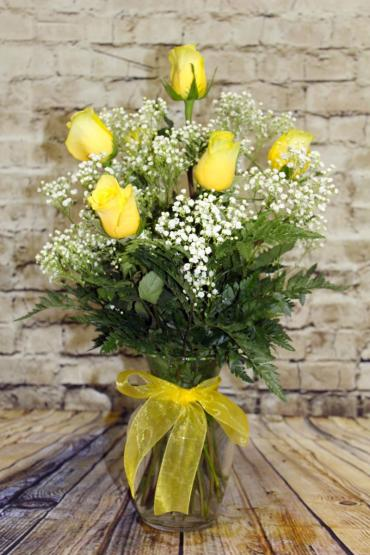 1/2 Dozen Roses Yellow
