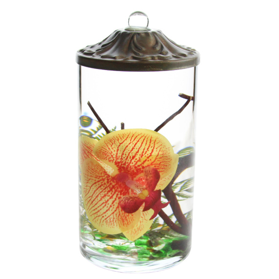 Tangerine Orchid Cylinder