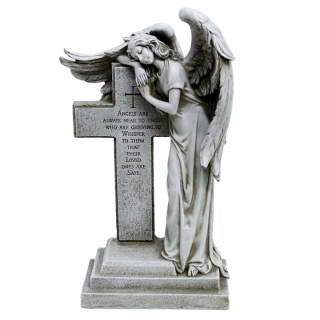 Angel Resting on Cross