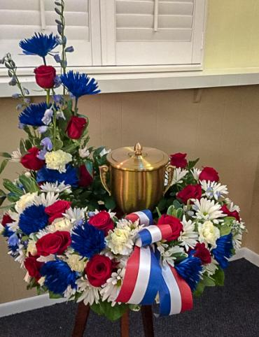 Patriotic Urn Arrangement