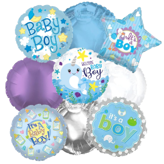 New Baby Boy Balloon Bouquet