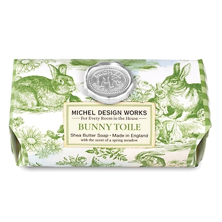 Bunny Toile Large Bath Soap Bar