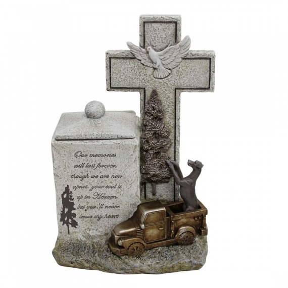 Hunting Dog With Truck Memorial Box